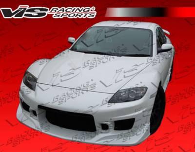 RX8 - Front Bumper - VIS Racing. - Mazda RX-8 VIS Racing Tracer Front Bumper - 04MZRX82DTRA-001