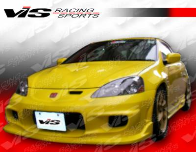 RSX - Front Bumper - VIS Racing - Acura RSX VIS Racing Wings-2 Front Bumper - 05ACRSX2DWIN2-001
