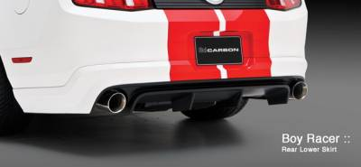Mustang - Rear Add On - 3dCarbon - Ford Mustang 3dCarbon Boy Racer Rear Lower Skirt with Pre-Drilled Backup Sensor Holes - 691612-PS