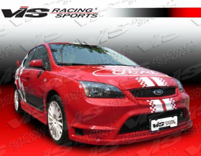 Focus 4Dr - Front Bumper - VIS Racing - Ford Focus VIS Racing Fuzion Front Bumper - 05FDFOC2DFUZ-001