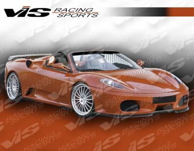 F430 - Front Bumper - VIS Racing - Ferrari F430 VIS Racing Euro Tech Front Lip - 05FR4302DET-011
