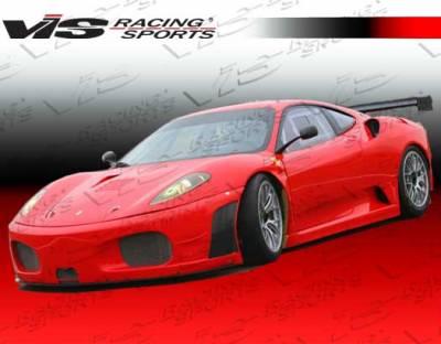 F430 - Front Bumper - VIS Racing - Ferrari F430 VIS Racing GT2 Front Bumper - Carbon Fiber - 05FR4302DGT2-001C