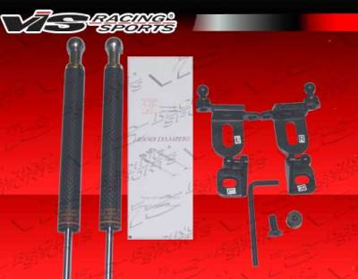 TC - Front Bumper - VIS Racing - Scion tC VIS Racing OEM Style Carbon Fiber Hood Shock Damper - 05SNTC2DOE-HDC