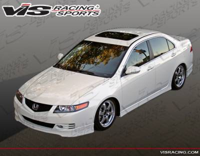 TSX - Front Bumper - VIS Racing - Acura TSX VIS Racing Euro R Front Lip - 06ACTSX4DEUR-011
