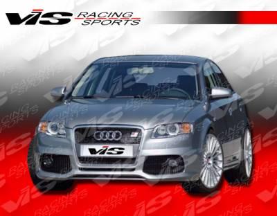 A4 - Front Bumper - VIS Racing - Audi A4 VIS Racing C Tech Front Lip - 06AUA44DCTH-011