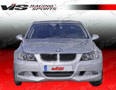 3 Series 4Dr - Front Bumper - VIS Racing - BMW 3 Series 4DR VIS Racing A-Tech Front Lip - Urethane - 06BME904DATH-011P