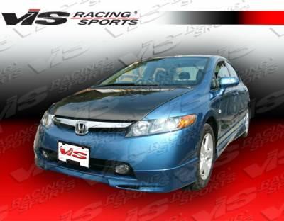 Civic 4Dr - Front Bumper - VIS Racing - Honda Civic 4DR VIS Racing Fuzion Front Lip - 06HDCVC4DFUZ-011