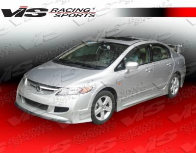 Civic 4Dr - Front Bumper - VIS Racing - Honda Civic 4DR VIS Racing Techno R-2 Front Bumper - 06HDCVC4DTNR2-001