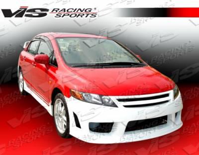 Civic 4Dr - Front Bumper - VIS Racing - Honda Civic 4DR VIS Racing Zyclone Front Bumper - 06HDCVC4DZYC-001