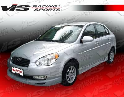 Accent 4Dr - Front Bumper - VIS Racing - Hyundai Accent 4DR VIS Racing Fuzion Front Lip - 06HYACC4DFUZ-011