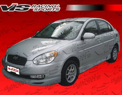 Accent 4Dr - Front Bumper - VIS Racing - Hyundai Accent 4DR VIS Racing V Spec Front Lip - 06HYACC4DVSC-011