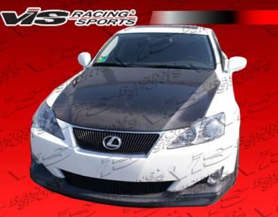 IS - Front Bumper - VIS Racing - Lexus IS VIS Racing Techno-R Carbon Fiber Lip - 06LXIS34DTNR-011C