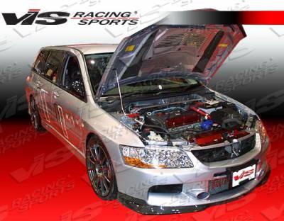 Lancer - Front Bumper - VIS Racing - Mitsubishi Lancer VIS Racing MR Carbon Fiber Front Lip - 06MTEV94DMR-011C