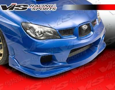 WRX - Front Bumper - VIS Racing - Subaru WRX VIS Racing Wings Front Bumper - 06SBWRX4DWIN-001