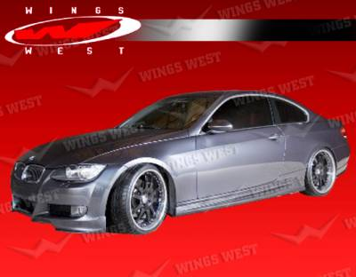 3 Series 4Dr - Front Bumper - VIS Racing - BMW 3 Series VIS Racing JPC Front Lip - 07BME922DJPC-011P