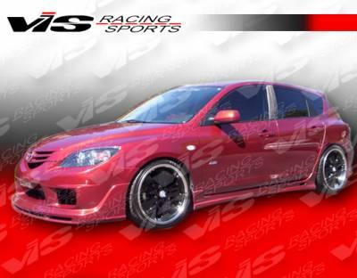 3 4Dr HB - Front Bumper - VIS Racing - Mazda 3 4DR HB VIS Racing Fuzion Front Lip - 07MZ3HBFUZ-011