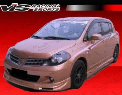 Versa - Front Bumper - VIS Racing - Nissan Versa VIS Racing VIP Front Lip - 07NSVER4DVIP-011P
