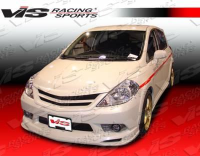 Versa - Front Bumper - VIS Racing - Nissan Versa VIS Racing Octane-2 Front Bumper - 07NSVERHBOCT2-001