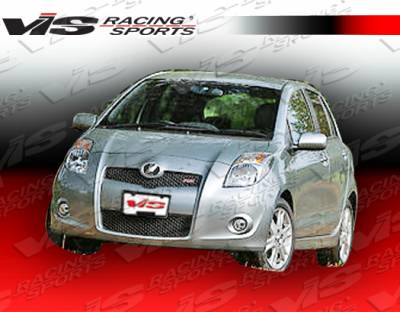 Yaris - Front Bumper - VIS Racing. - Toyota Yaris VIS Racing JDM Racing Series Front Bumper - 07TYYARHBJRS-001