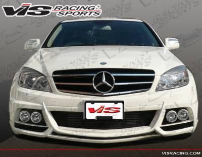 C Class - Front Bumper - VIS Racing - Mercedes-Benz C Class VIS Racing VIP Style Front Bumper - 08MEW2044DVIP-001