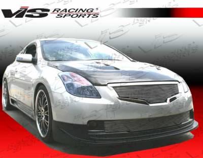 Altima - Front Bumper - VIS Racing - Nissan Altima VIS Racing Wings Front Lip - Carbon Fiber - 08NSALT2DWIN-011C