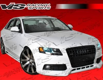A4 - Front Bumper - VIS Racing - Audi A4 VIS Racing R Tech Front Lip - Carbon Fiber - 09AUA44DRTH-011C