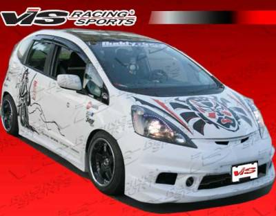 Fit - Front Bumper - VIS Racing - Honda Fit VIS Racing Techno R Front Bumper - 09HDFIT4DTNR-001