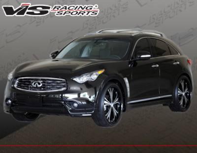 FX35 - Front Bumper - VIS Racing - Infiniti FX VIS Racing RMI Front Lip - Polyurethane - 09INFX4DRMI-011P