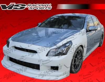 G37 - Front Bumper - VIS Racing. - Infiniti G37 VIS Racing GTR Front Bumper - 09ING374DGTR-001