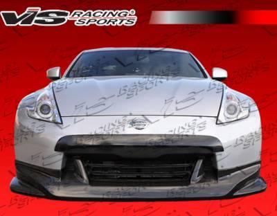 370Z - Front Bumper - VIS Racing - Nissan 370Z VIS Racing Techno R Front Lip - Carbon Fiber - 09NS3702DTNR-011C
