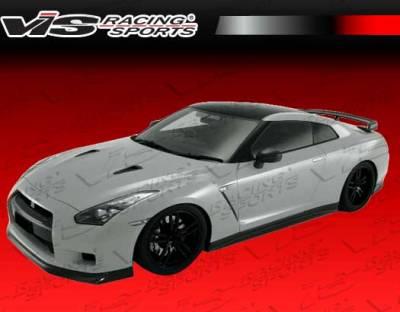 Skyline - Front Bumper - VIS Racing - Nissan Skyline VIS Racing Godzilla X Front Bumper - Dry Carbon Fiber - 09NSR352DGODX-001D