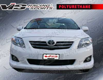 Corolla - Front Bumper - VIS Racing - Toyota Corolla VIS Racing Fuzion Front Lip - 09TYCOR4DFUZ-011P