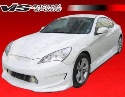 Genesis - Front Bumper - VIS Racing - Hyundai Genesis VIS Racing AMS GT Front Bumper - 10HYGEN2DAMSGT-001