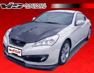 Genesis - Front Bumper - VIS Racing - Hyundai Genesis VIS Racing Pro Line Front Lip - Carbon Fiber - 10HYGEN2DPL-011C