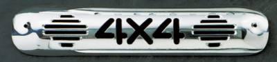 Headlights & Tail Lights - Third Brake Lights - All Sales - All Sales Third Brake Light Cover - 4X4 Design - Polished - 94014P