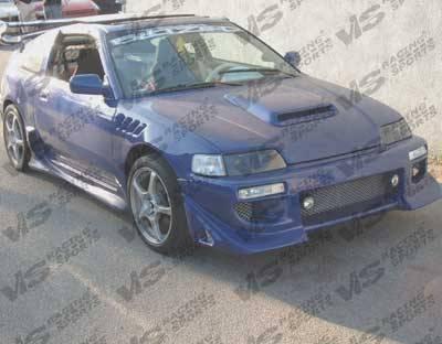 CRX - Front Bumper - VIS Racing - Honda CRX VIS Racing Battle Z Front Bumper - 88HDCRXHBBZ-001