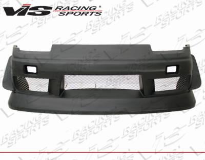 240SX - Front Bumper - VIS Racing - Nissan 240SX VIS Racing B-Speed Type 4 Front Bumper - 89NS2402DBSP4-001