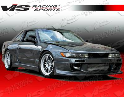 S13 - Front Bumper - VIS Racing - Nissan S13 VIS Racing Flex Front Bumper - 89NSS132DFLX-001