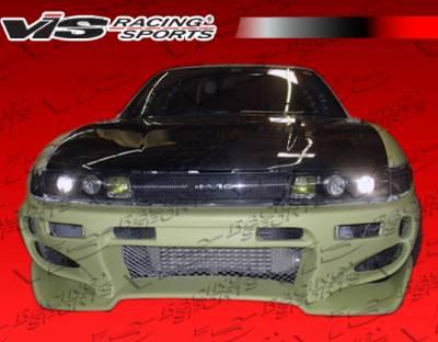 S13 - Front Bumper - VIS Racing - Nissan S13 VIS Racing Invader Front Bumper - 89NSS132DINV-001