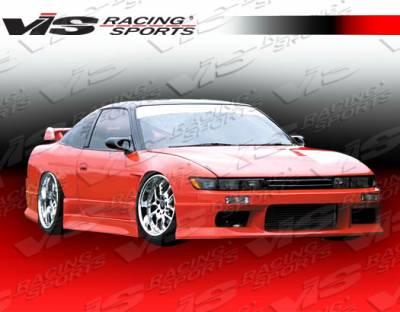 S13 - Front Bumper - VIS Racing - Nissan S13 VIS Racing M-Speed Type 2 Front Bumper - 89NSS132DMSP2-001
