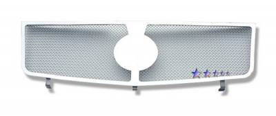 Grilles - Custom Fit Grilles - APS - Cadillac Escalade APS Wire Mesh Grille - Upper - Stainless Steel - A75366T