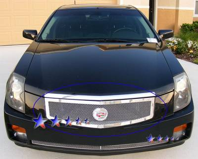 Grilles - Custom Fit Grilles - APS - Cadillac CTS APS Wire Mesh Grille - Upper - Stainless Steel - A75368T