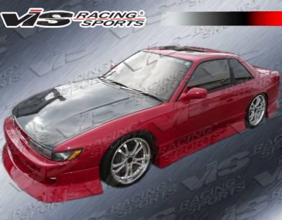S13 - Front Bumper - VIS Racing - Nissan S13 VIS Racing V-Spec Type-4 Front Bumper - 89NSS132DVSC4-001