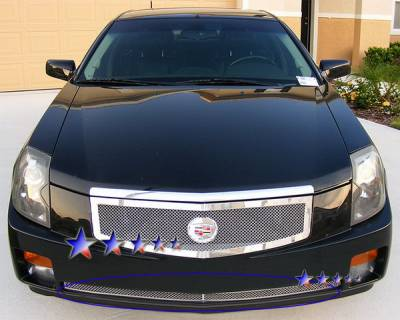 Grilles - Custom Fit Grilles - APS - Cadillac CTS APS Wire Mesh Grille - Bumper - Stainless Steel - A75378T