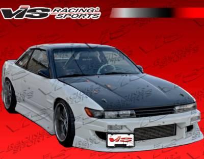 S13 - Front Bumper - VIS Racing - Nissan S13 VIS Racing Werk 9 Front Bumper - 89NSS132DWK9-001