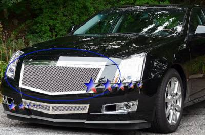 Grilles - Custom Fit Grilles - APS - Cadillac CTS APS Wire Mesh Grille - Upper - Stainless Steel - A76577T