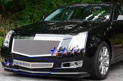 Grilles - Custom Fit Grilles - APS - Cadillac CTS APS Wire Mesh Grille - Bumper - Stainless Steel - A76578T