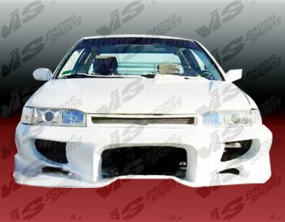 Accord 2Dr - Front Bumper - VIS Racing - Honda Accord 2DR & 4DR VIS Racing Invader-1 Front Bumper - 90HDACC2DINV1-001