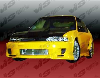 Accord 2Dr - Front Bumper - VIS Racing - Honda Accord 2DR & 4DR VIS Racing Strada F1 Front Bumper - 90HDACC2DSF1-001
