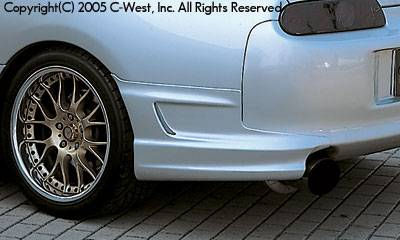 Spoilers - Custom Wing - C-West - Rear Bumper